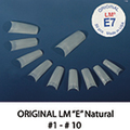LM French Tips (E-Tips) Natural-Straight, 50 pcs/bag